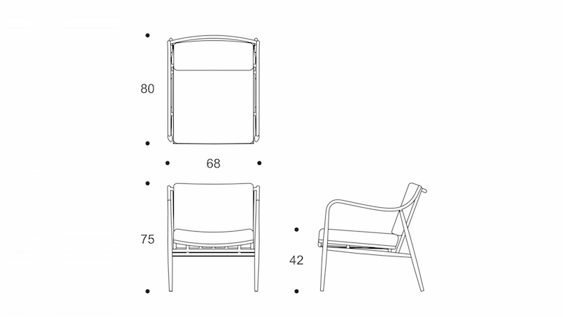 myittha  easy chair drawing