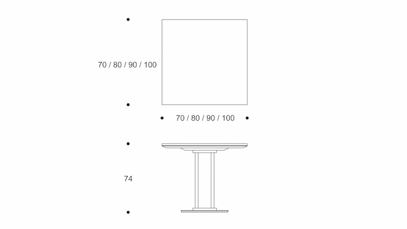 quad  dining table drawing