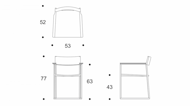 scandinav  dining chair drawing