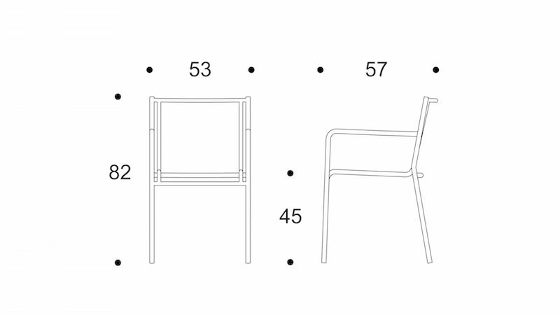 sparse dining chair drawing