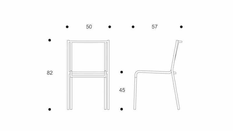 sparse  dining chair  without arm  drawing