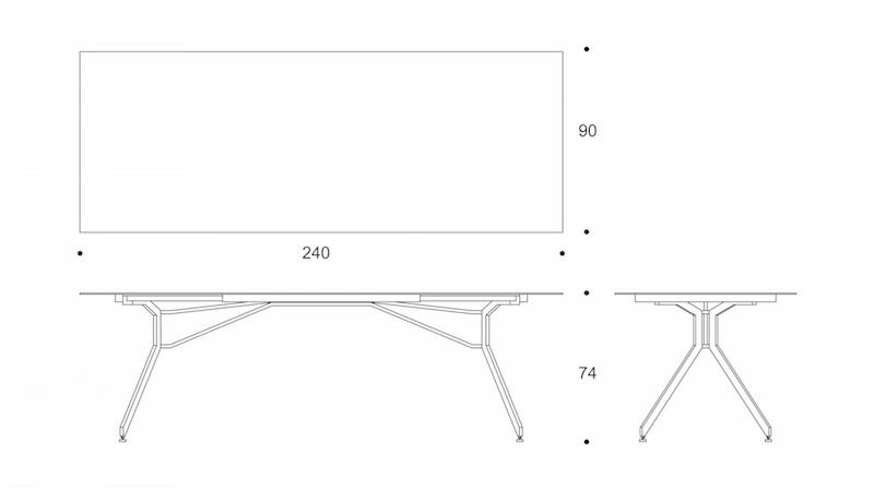 wing  dining table drawing
